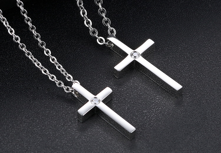 Titanium&Stainless Steel Fashion Geometric necklace  (male) NHOP2373-male