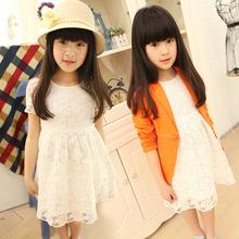 淘寶一件代發 代理夏季童裙 韓版蕾絲女童連衣裙全棉高品質公主裙