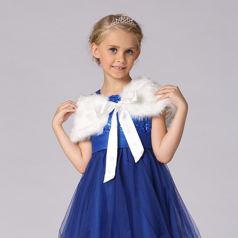 一件代发女童斗篷披肩2020新款童装时尚韩版毛毛披肩儿童礼服配饰