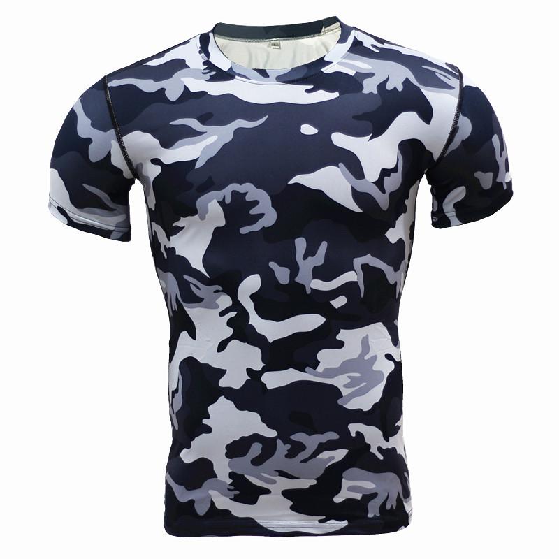 短袖紧身衣健身服男士运动超酷户外迷彩服吸汗速干篮球跑步T恤