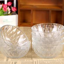 批发钻石玻璃碗六件套水晶玻璃碗套装钻石碗促销礼品透明沙拉碗