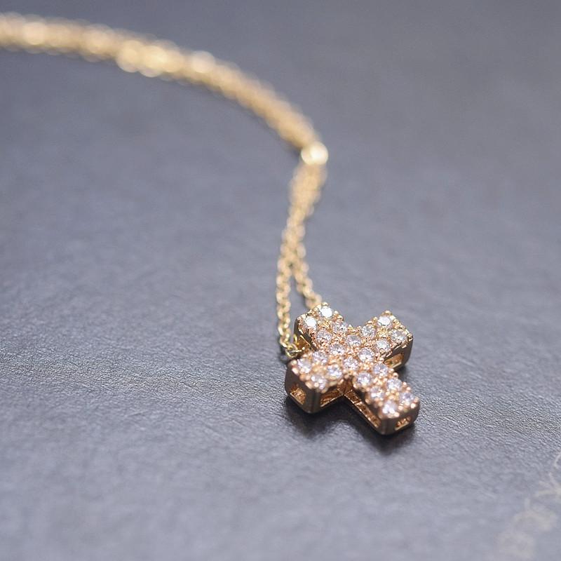 丽晶饰品 微镶十字架 项链 精致小巧时尚百搭 77462