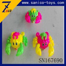 儿童益智新奇小玩具 婴儿卡通拉线爬行螃蟹铃声闪光 厂家直销7690