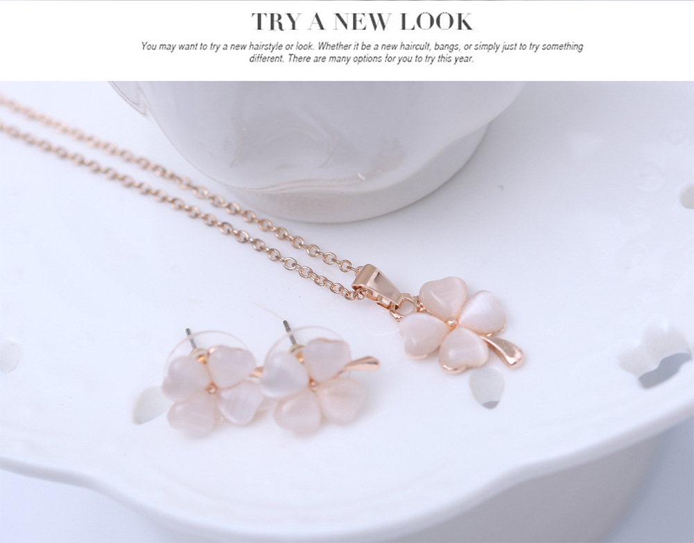 Occident alloy Drill set earring + necklace NHXS0605