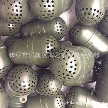 厂价批发塑料饵料笼 ?#22120;?#31548;装蚯蚓盒 渔网诱饵球饵料盒圆形饵料球