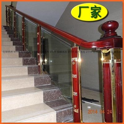 工厂直销不锈钢夹木楼梯立柱 护栏立柱 质量上乘 可定制