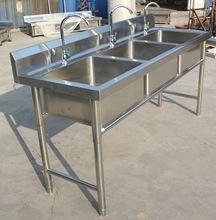 厂家批发不锈钢三槽水槽厨房洗菜盆洗手池304酒店商用不锈钢水池