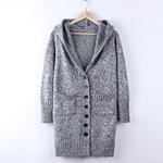 Áo cardigan len nữ, dáng dài, thiết kế thời thượng, phong cách