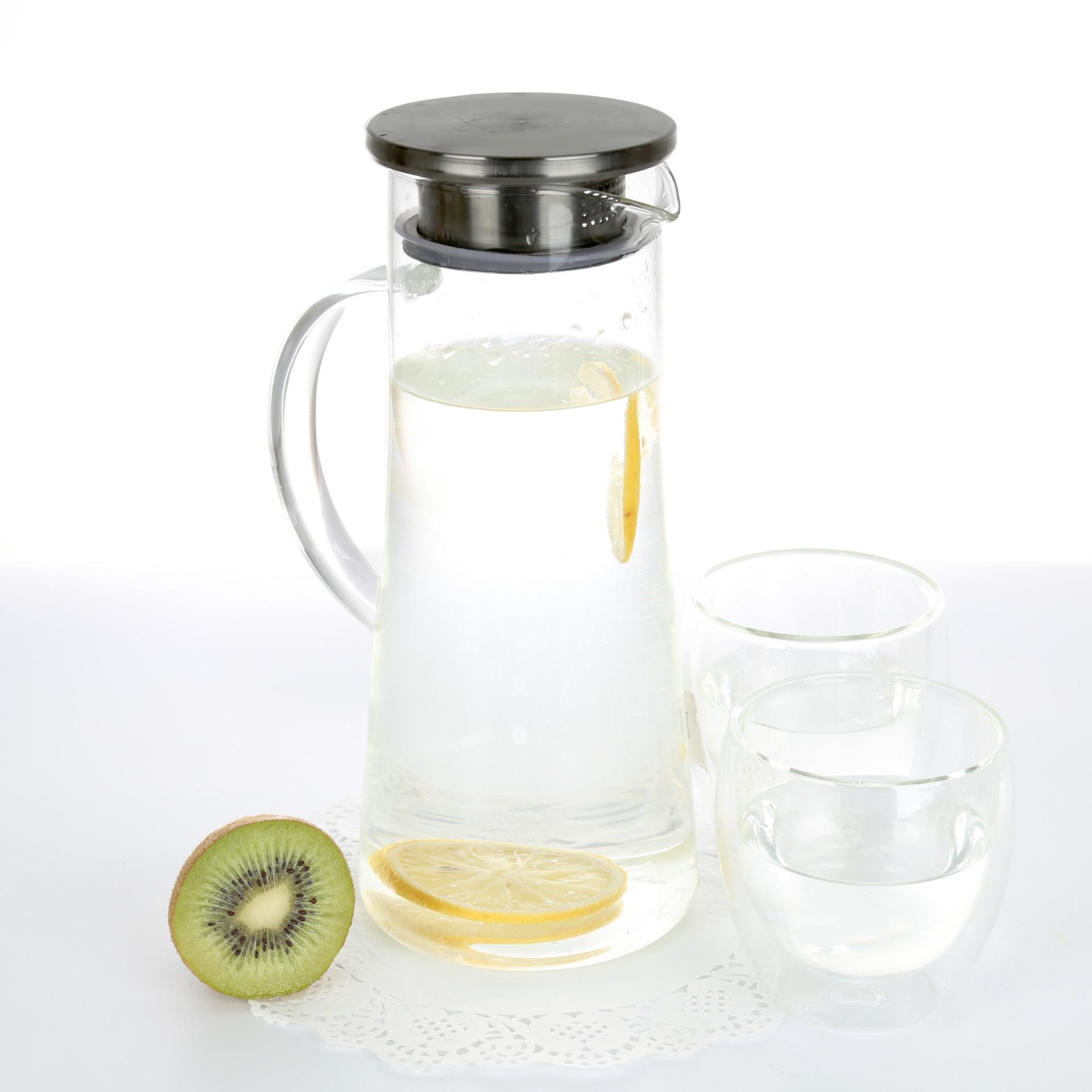 厂家定制 冷水壶玻璃茶壶耐高温过滤凉水壶
