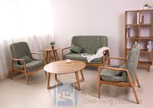 廠家直銷新款日韓風格白橡木實木異型腿茶幾客廳創意茶幾