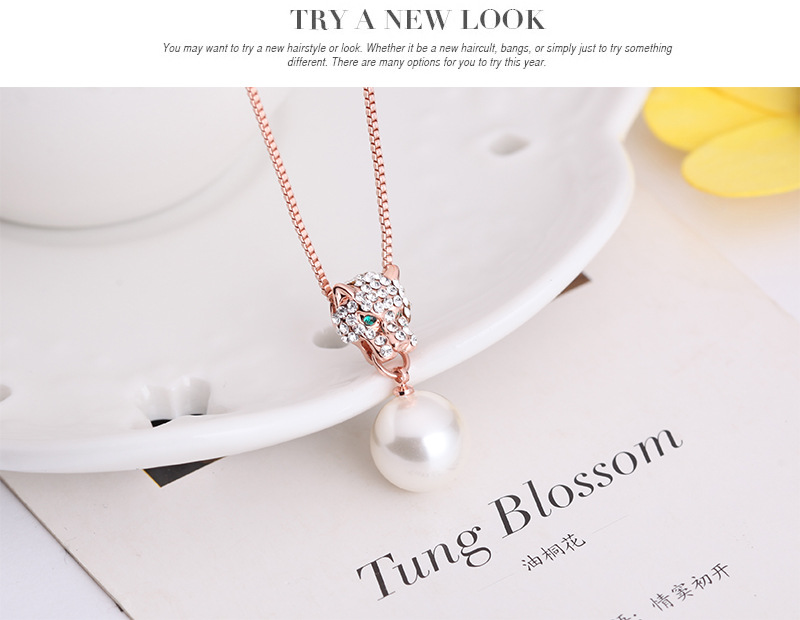 Occident alloy Drill set earring + necklace NHXS0609