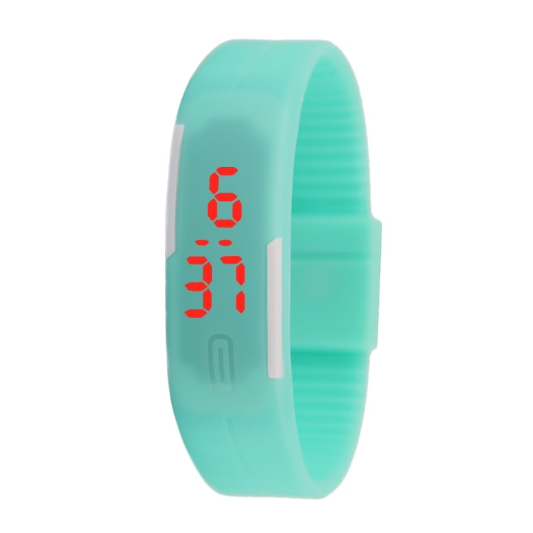 Thin band LED bracelet watch fashion touch electronic student gift watch black one size 16