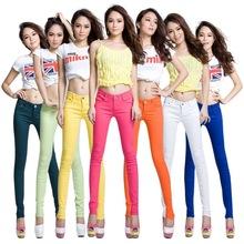 廠家直銷新款女裝褲子女鉛筆褲打底褲彩色糖果色小腳褲女牛仔褲女