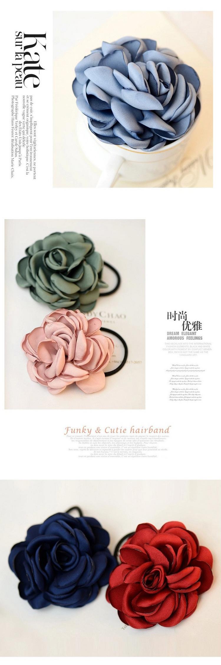 Korean new fashion wild simulation rose cheap scrunchies wholesale NHDQ207424