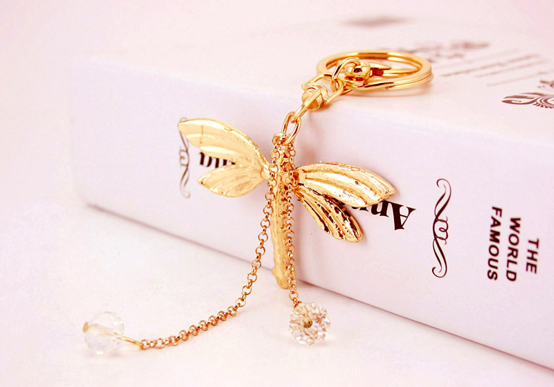 creative crystal diamond dragonfly keychain NHAK266950