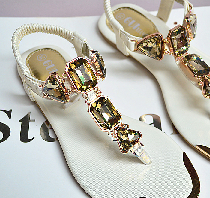 ea8818749f442 2018 New Summer Ladies Sandals Rhinestones After The Wrist Trip With ...