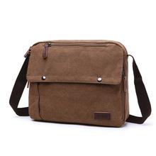 厂家直供 帆布包 中性纯色单肩斜挎包 欧美风范实用包 随身旅行包