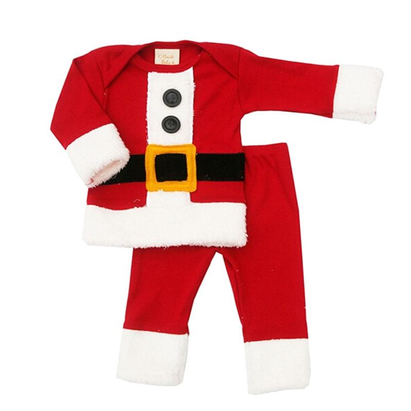 2017秋冬新款外贸圣诞款套装批发 婴幼儿男女宝宝长袖套装