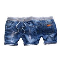 2018夏款童裝兒童破洞牛仔短褲韓版男童牛仔熱褲中小女童寶寶褲子