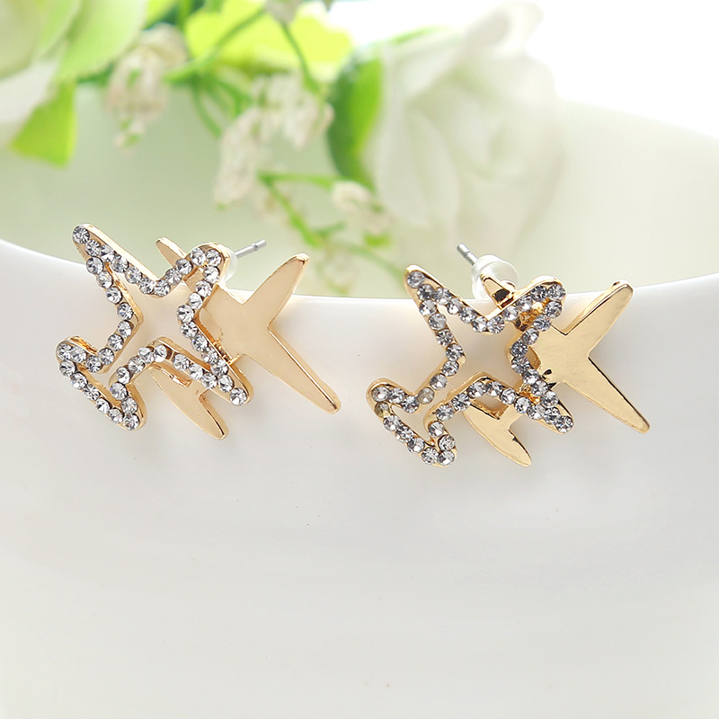 Fashion AlloyStud Earrings(Golden)NHGY1562-Golden