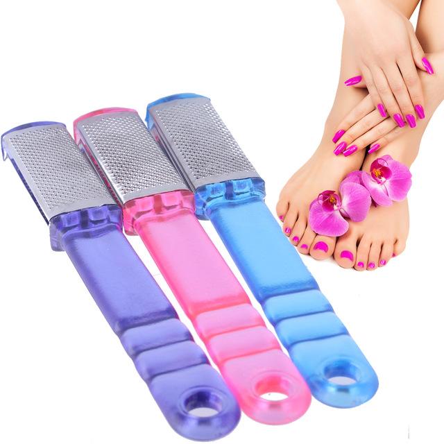 不锈钢双面脚挫 带透明手柄 磨脚工具 方便使用 现货供应