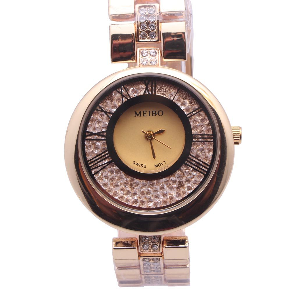 fashion Plexiglass mirrorLadies watch (2-gold)NHMM2096-2-gold