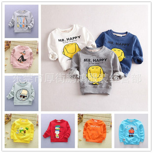 Tong sweater factory direct foreign trade of the original single new Korean children's cartoon round neck printed sw