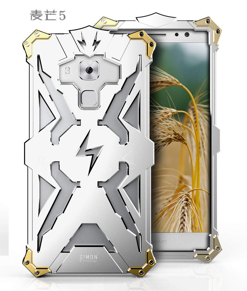 SIMON THOR Aviation Aluminum Alloy Shockproof Armor Metal Case Cover for Huawei Maimang 5| 4 |G7 Plus