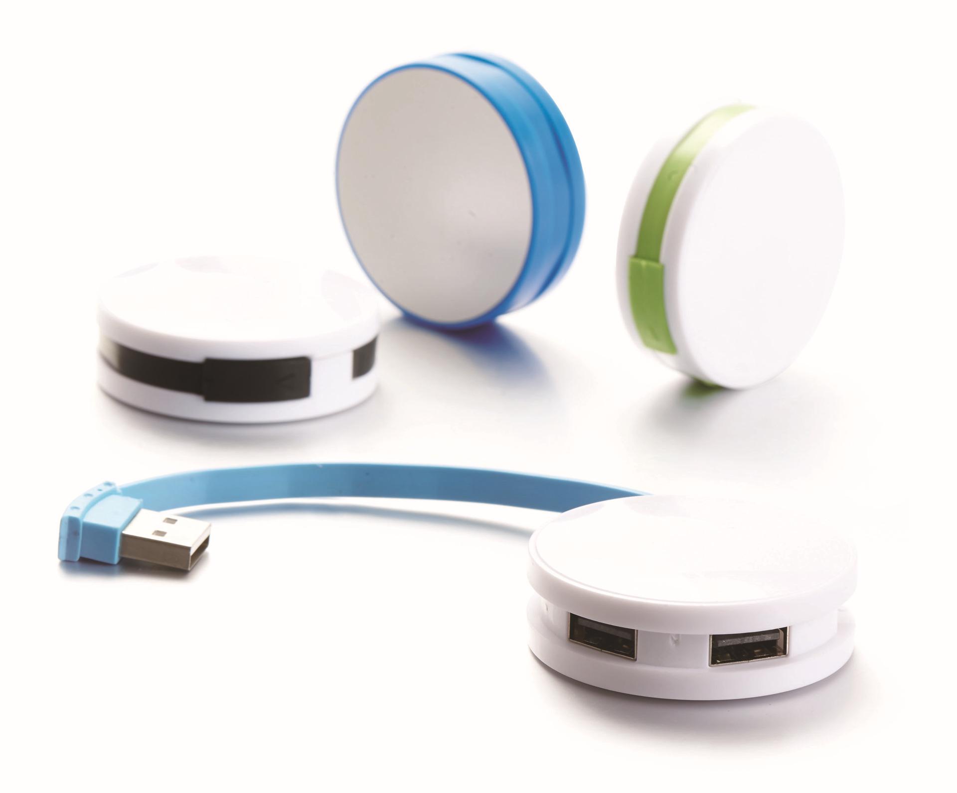 圆形四口USBHUB电脑手机用分线器2.0版四口集线器四口2.0版USBHUB