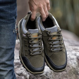 Autumn and winter new men's outdoor hiking shoes men's non-slip waterproof low to help travel shoes sports shoes men's shoes sk01