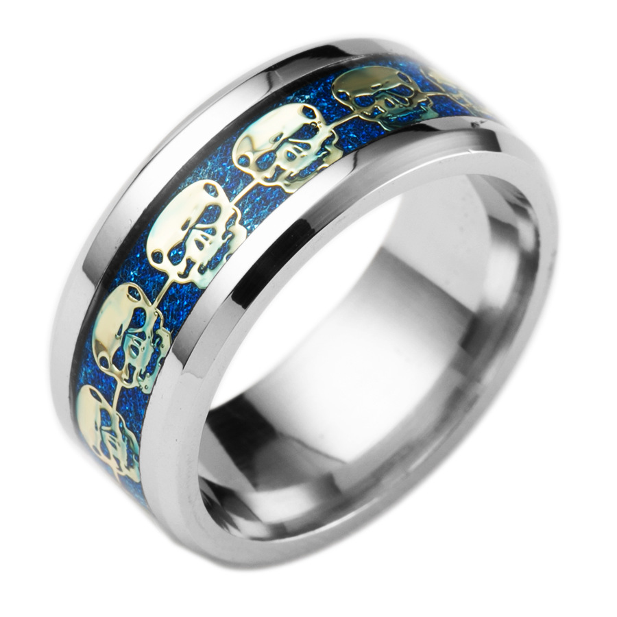 gothic skull stainless wedding to rings hand pertaining ring engagement mens skeleton ideas biker
