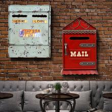 新款家居装饰信箱 铁艺工艺品收纳箱 创意家居摆件 金属工艺品