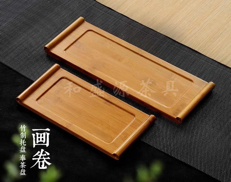 和盛源厂家直销竹制托盘长方形日式茶托盘小号干泡茶台新款特价