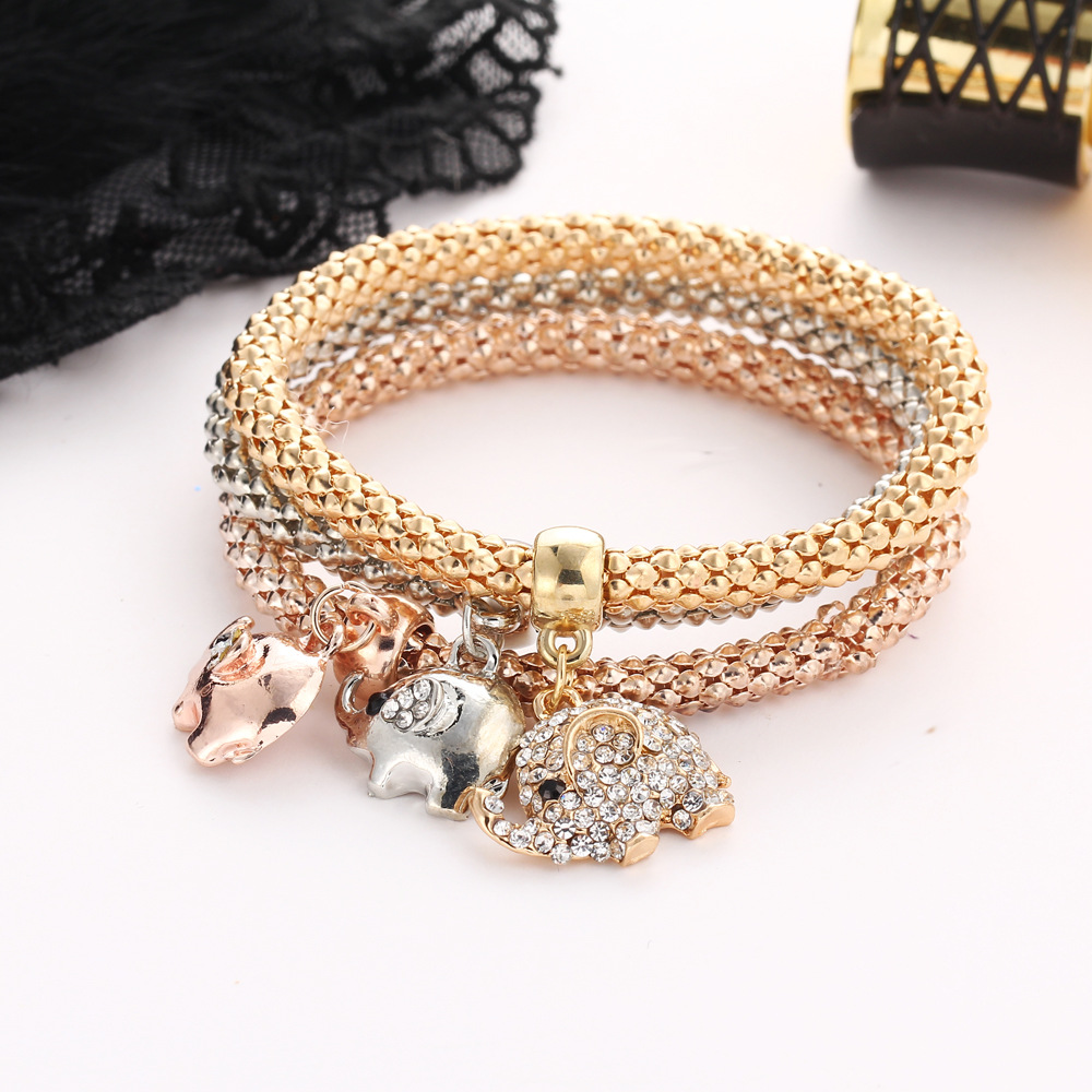 Fashion Imitated crystal Rhinestone Pendant Crown Bracelet NHPJ147969