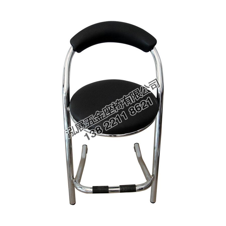厂家批发游戏机红黑色靠背座椅电玩城游戏厅椅子餐厅不锈钢凳子