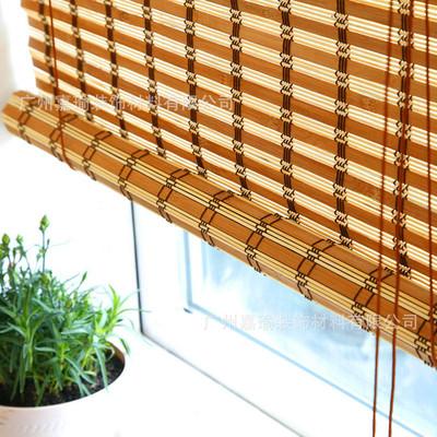特价竹卷帘茶楼窗帘农庄咖啡厅书房古典竹编织帘定制窗帘