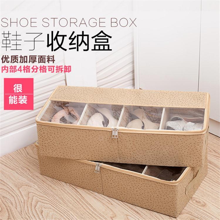 专利可组合收纳鞋盒 家居长靴子收纳盒可折叠 加厚透明视窗储物盒