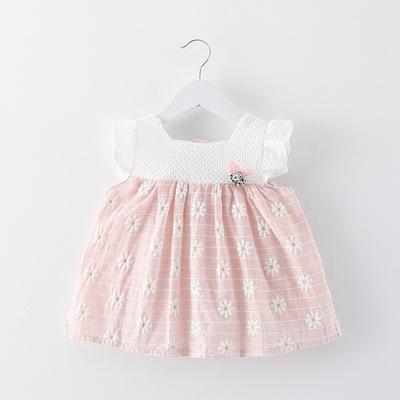 厂家直销 童装批发 2018新品韩版女童娃娃衫 公主纯棉连衣裙