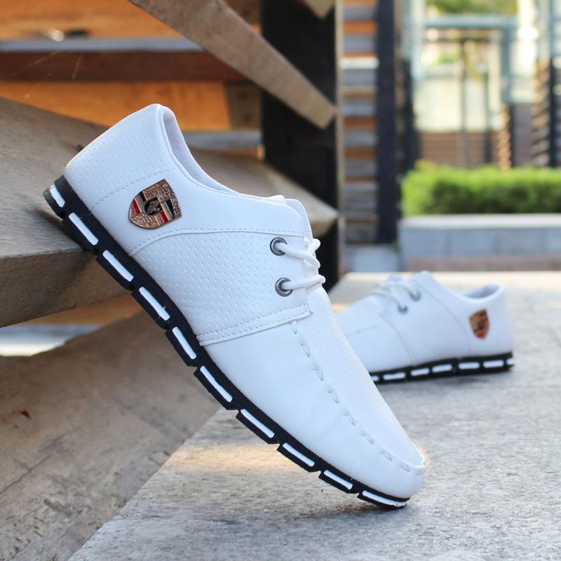 2019 ربيع جديد أحذية الرجال البازلاء الكورية تغطي أحذية تنفس القدم أحذية رجالية احذية عادية أحذية القيادة 988