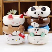 创意zakka陶瓷工艺礼品 彩绘卡通小动物烟灰缸 家居男士礼品批发