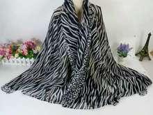 厂家定制斑马纹豹纹简洁条纹印花巴厘纱围巾韩版女?#21487;?#24062;外贸披肩