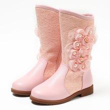 女童秋冬公主靴新款加絨保暖靴子3-16歲韓版女童靴Kids boots