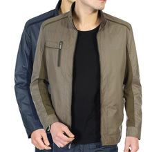 一件代发中老年人男装休闲夹克外套春秋薄款上衣爸爸装中年夹克衫