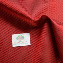 雙色提花布 PVC箱包面料 紅黑交織