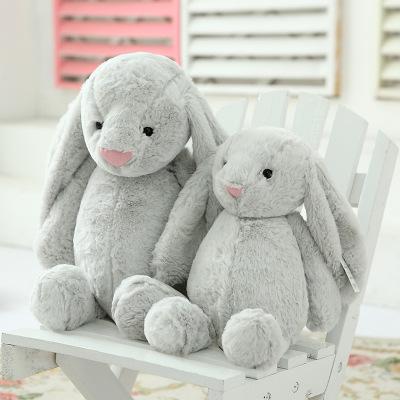 可爱大耳朵兔子毛绒玩具耳兔公仔宝宝安抚玩偶小白兔定制一件代发