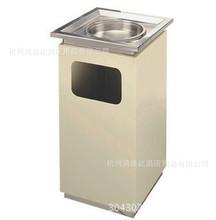 电梯口走廊室内大堂烟灰桶/钛金大理石烟灰盅不锈钢烤漆垃圾桶