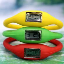 多款多色負離子電子手表硅膠防水男女兒童學生促銷禮品表可印LOGO