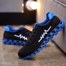 夏秋季新款韩版男鞋学生运动鞋透气休闲鞋阿甘跑步男鞋子一件代发