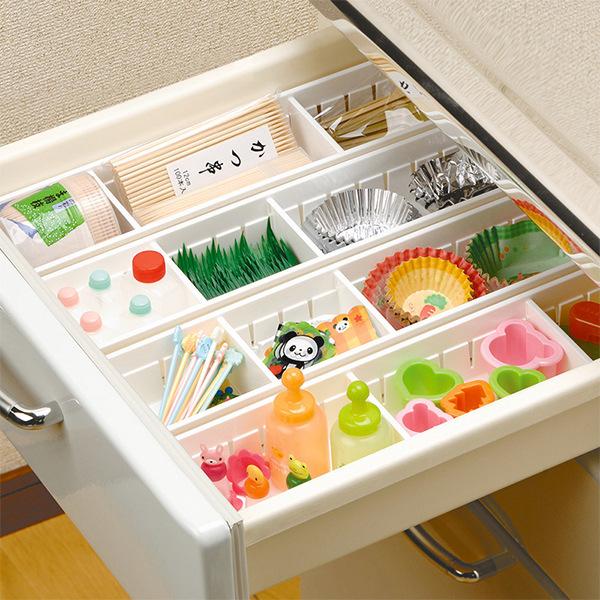 FaSoLa居家日用品厨房抽屉式收纳盒塑料化妆品无盖大小号收纳盒