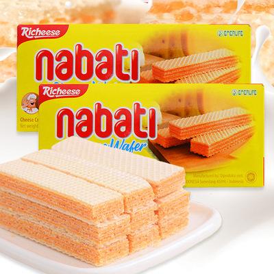 供��印尼�M口零食 Richeese/��芝士�{��帝奶酪威化�干 膨化食品